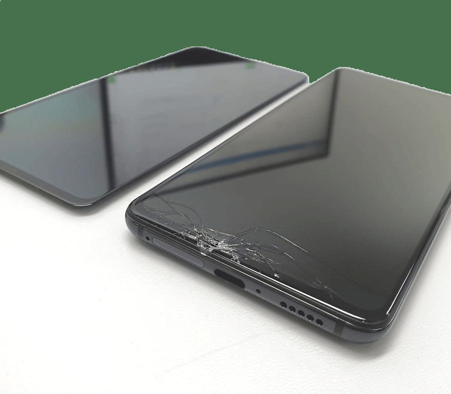 Betört Xiaomi telefon kijelző